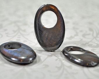 Laboradorite pendants, drilled, 30mm, #745