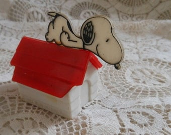 Snoopy Doghouse Double Pencil Sharpener 1958 Vintage at Quilted Nest