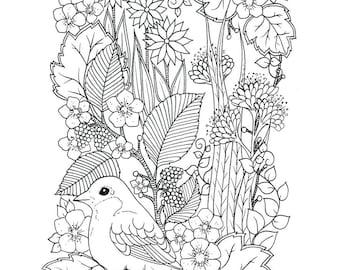 Digital coloring page 4