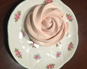 set of 24 Petitte Meringue Rosettes, Chose your flavor: Lemon, Orange, Raspberry, Strawberry, Banana, Coconut