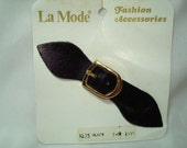 1970s La Mode Leather Buckle Pleated Skirt Accessory.