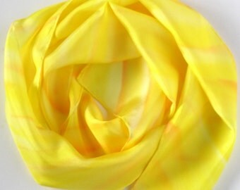 Yellow Scarf . Because I'm Happy Hand dyed silk scarf