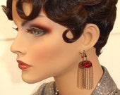 Phryne  Fisher Earrings - 1920s Flapper Earrings - Miss Fisher Jewelry - Gothic Earrings - Art Deco Jewelry - Womens Jewelry