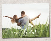Save the Date, Photo Save the Date, Wedding, Save the date Card, Save the Dates, Modern Save the Date card: PRINTABLE (cursive)
