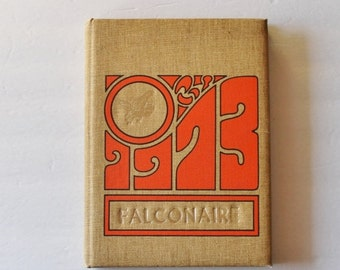 50% half off sale // Vintage 1973 Falconer NY High School Yearbook // Falconaire, Western New York