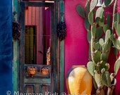 Custom Order for Mary, Antique door, wood Garden Door,Tucson Arizona Barrio, old door, Mexican decor, Southwestern decor