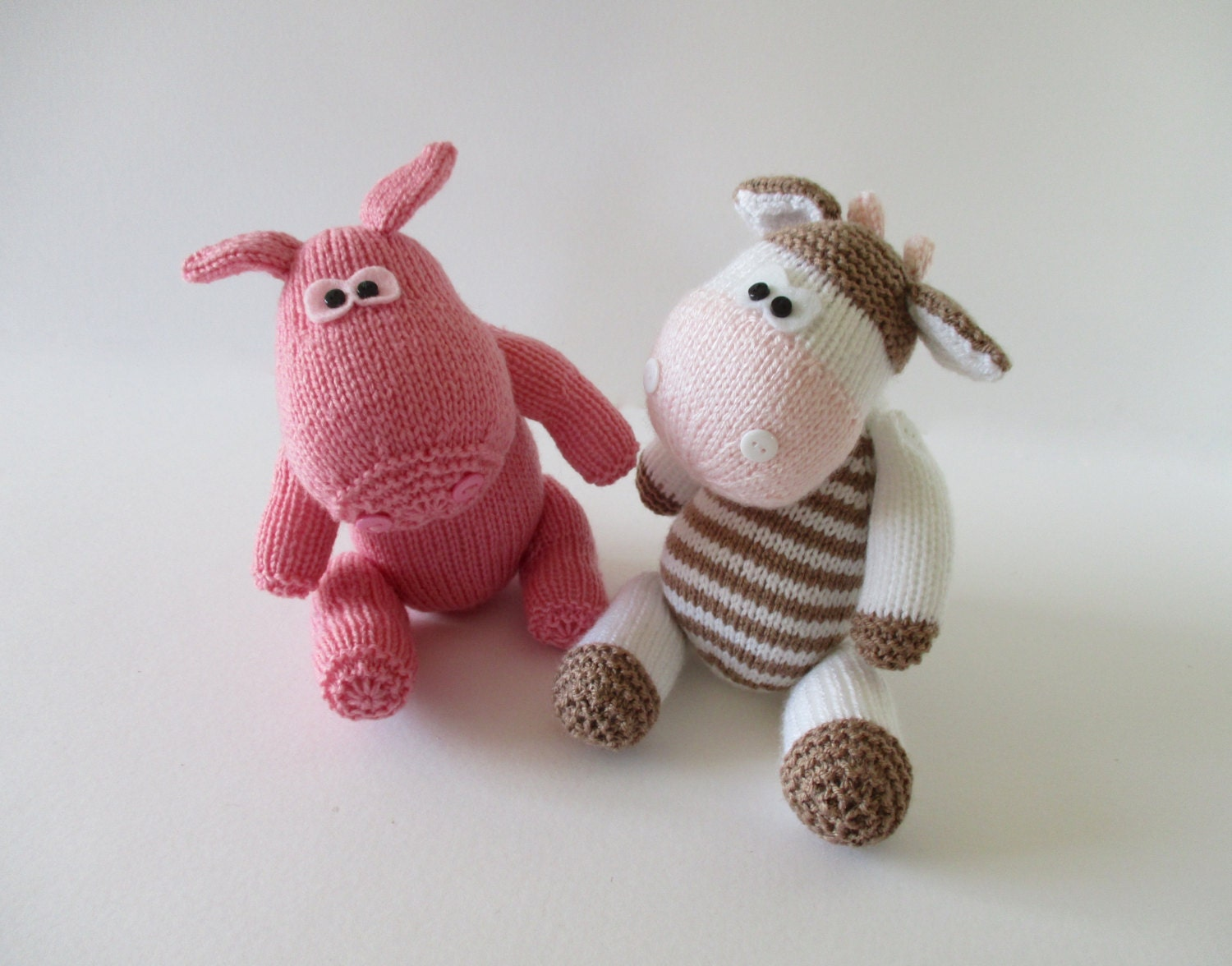 Knitting Pattern Cow Toy : Chutney Cow and Pickles Pig toy knitting patterns