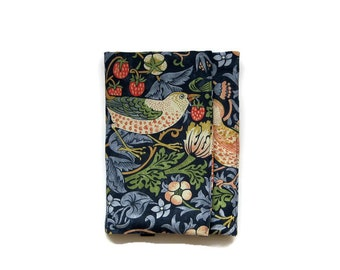 iPad stand and case, iPad Air, Mini, tablet sleeve, gadget cover or case, William Morris Arts and Crafts Strawberry Thief fabric,