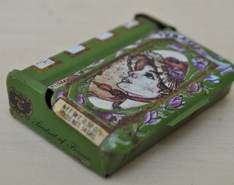 Antique French Tin Miniature Book