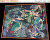 Drucilla Palmer Vintage 1955 Abstract Painting