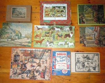 Lot of 4 Jigsaw Puzzles 1930s 1940s