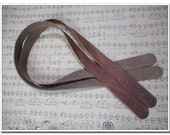 2pcs of brown high quality cow leather purse handles purse straps