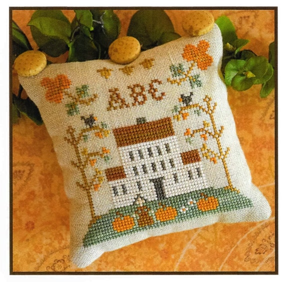 Counted Cross Stitch Pattern, ABC Samplers, Cross Stitch Sampler, Little House Needleworks, Cross Stitch Pillow, Autumn Decor, PATTERN ONLY