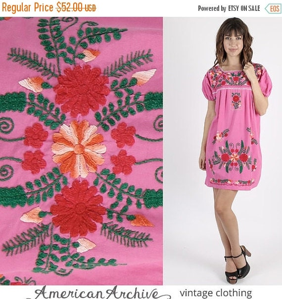 On sale vintage mexican dress mexican wedding dress boho for Mexican wedding dresses for sale