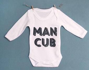 Man Cub Long Sleeved Baby Vest
