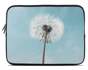 Dandelion Laptop Sleeve, laptop case, laptop cover, to fit  10, 13, 15, 17 inch, computer sleeve, netbook case, coworker gift