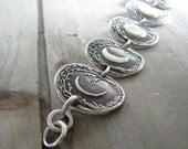 Moon Story No. 3, Moon Phases Bracelet, Fine and Sterling Silver, Recycled Silver, Original and Exclusive by SilverWishes