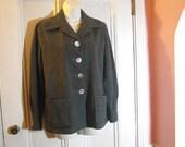 Pendleton 49er Solid Gray Wool Shirt Jacket - Medium Ladies