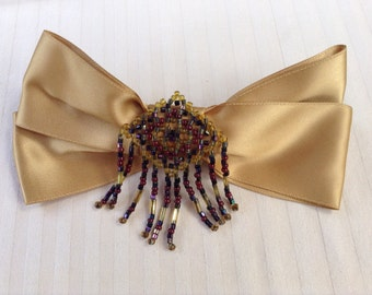 French Barrett Hair Bow with beading detail