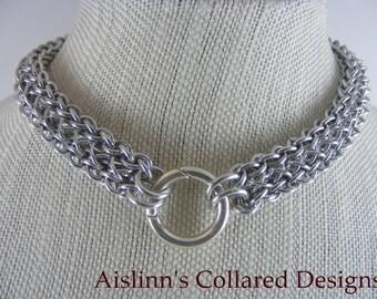 Raven's Braid BDSM Gorean Chainmaile Slave Daywear Collar