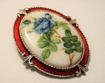 Vintage flower brooch. Exquisite brooch. China flower brooch