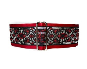 Celtic Martingale Collar, Christmas Martingale, 2 inch Martingale Collar, Celtic Dog Collar, Christmas Dog Collar, Greyhound Collars