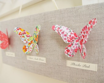 Liberty of London Butterfly Art Canvas Mini ~ Coral & Pink ~ Fabric Names ..... Ready to Ship