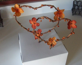 Fall Wedding Heart Cake Topper