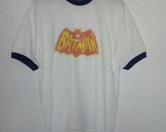 Batman TShirt / Ringer Tee / Graphic TShirt / Logo / Superhero / Indie / Grunge / Rock N Roll / Festival / Unisex / Women / Men / Guys