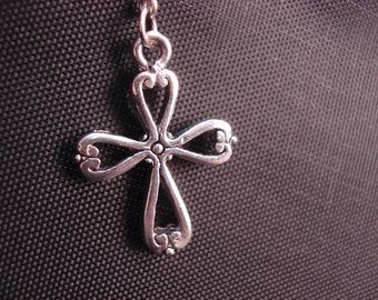 Silver Crosses on Sterling Ear Threads- Threader Earrings-Necklace-FREE SHIPPING To U.S.-
