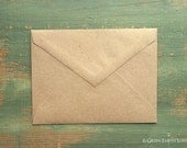 """25 A1 Pointed Flap Kraft Envelopes, 3 5/8"""" x 5 1/8"""" (92x130mm), grocery bag kraft brown envelopes, 4bar envelopes, RSVP triangular flap"""