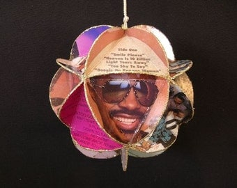 Stevie Wonder Album Cover Ornament Made Of Repurposed Record Jackets