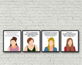 ALL 4 PRINTS - Girls hbo, digital download, printable, Lena Dunham, Marnie, Hannah, Shoshana, Jessa funny posters quote, television show