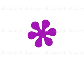 Hippie Flower Embroidery Design Instant Download