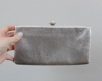 Vintage Silver Purse Clutch
