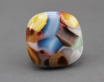 Fused Art Glass Cabochon