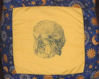 Dandi Dinmont Terrier Quillo * Dandi Dinmont Terrier Bed in a Bag Hot Diggity Dog Novelty Fabric