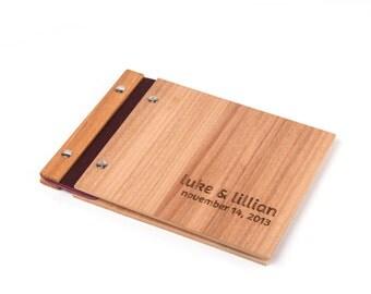 Wedding Guest Book. Small Wedding. Wood Guestbook.  Engagement Gift. Anniversary Gift: Tasmanian Oak