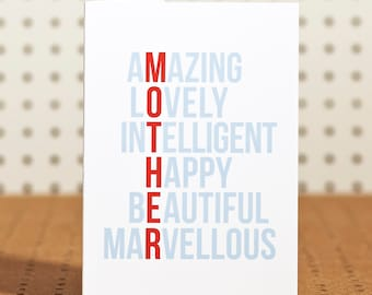 Amazing  Mum Mother's Day Card