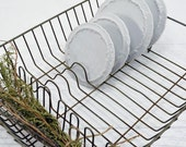 Wire Dish Drainer - vintage kitchen dish draining rack - Farmhouse Decor