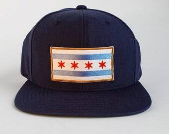 Chicago Flag Snap Back Hat