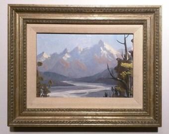 E. Thomas original landscape painting
