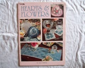 17 Hearts & Flowers Thread Crochet Pattern Booklet leisure art 3079 leaflet pillow sachet picture frame coaster wall hanging edging bookmark