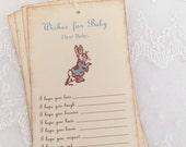 Dear Baby Peter Rabbit Wish Tree Tags Baby Shower Wishing Tree Set of 10