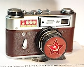 Brown USSR FED-5 camera rare Russian Leica in box  -=MOSCOW=-