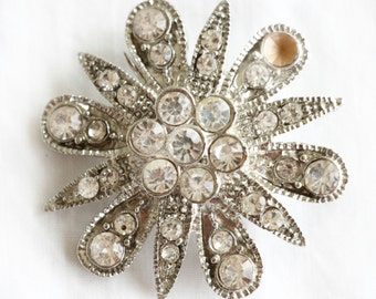 Diamond Star, French Vintage, 1950s Brooch Jewelry,  from Paris