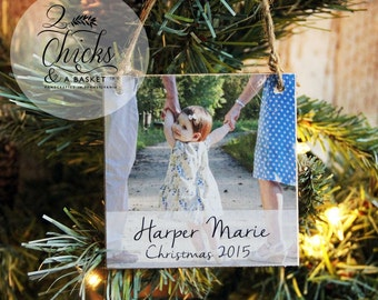 Personalized Christmas Ornament, Photo Ornament, Custom Photo Ornament