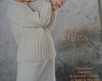 Brunswick Yarns Pattern Leaflet 931 Winter White Sweaters