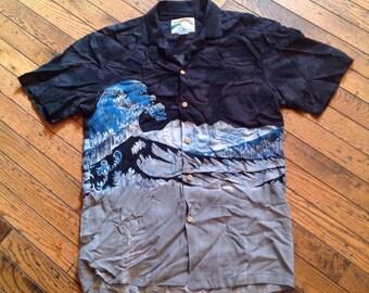 Vintage Men's Paradise Found Rayon Shirt Hawaiian Sz S