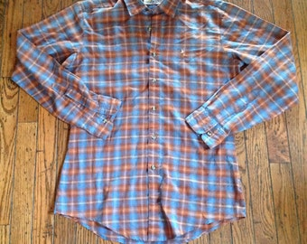 Vintage Levi's Men's M Plaid Shirt